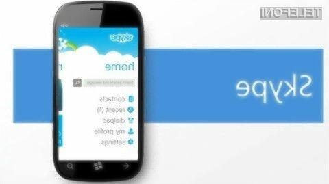 Microsoft bo umaknil Skype za Windows Phone 7