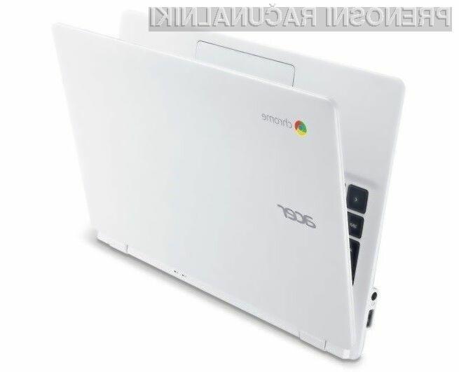 Prenosi računalnik Acer Chromebook 11 s procesorjem Intel Bay Trail bo zlahka opravil tudi z najtežjimi nalogami.
