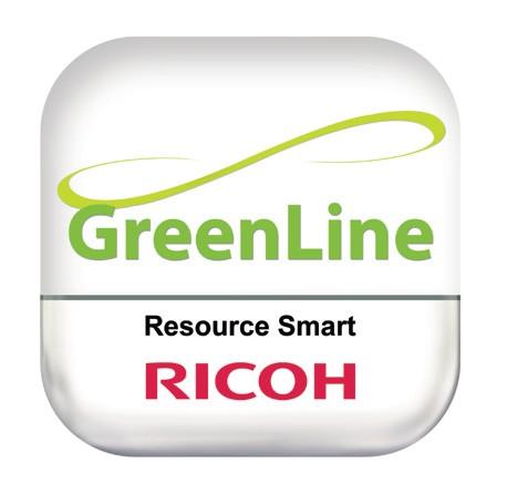 Certificirana Green Line oznaka na reciklirani napravi Ricoh zagotavlja, da izpolnjuje stroge standarde kakovosti