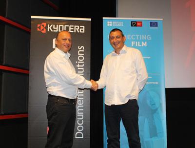Mirsad Purivatra, direktor Sarajevo film festivala in Adel Mešić, direktor podjetja Xenon forte Sarajevo.