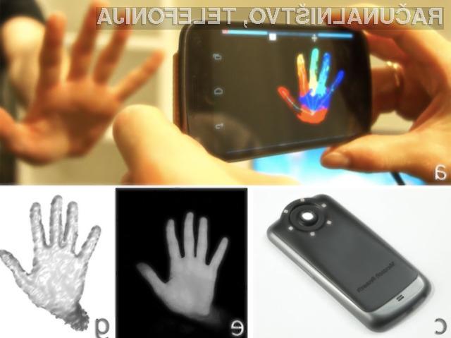 Miniaturni krmilni sistem Kinect bi lahko uporabljali tako za brezstično upravljanje s programi ali računalniškimi igrami kot za 3D preslikavo predmetov.