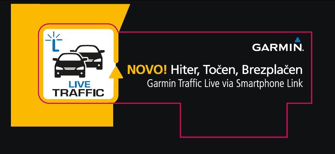 Garmin že nudi brezplačne prometne informacije za Slovenijo.