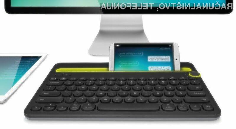 Miniaturna tipkovnica Bluetooth Multi-Device Keyboard K480 podjetja Logitech močno poenostavlja vnos besedil v mobilne naprave,