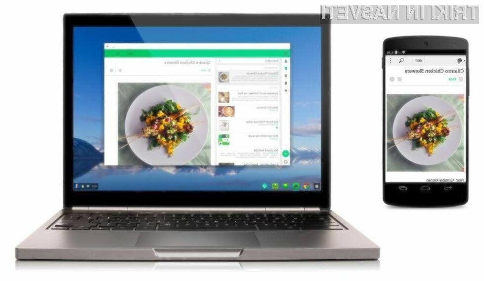 Aplikacije za Android bo kmalu mogoče poganjati tudi v namiznem operacijskem sistemu Chrome OS.