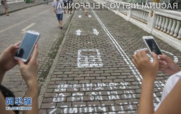 Namenski pločnik za uporabnike pametnih mobilnih telefonov je zadetek v polno.