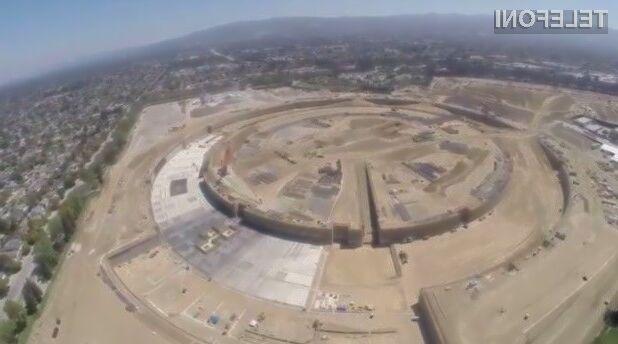 Podjetje Apple bo gradnjo veličastnih poslovnih prostorov dokončalo v drugi polovici leta 2016.