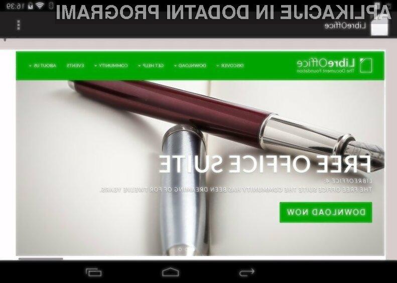 Februarja naj bi bil pisarniški paket LibreOffice na voljo tudi uporabnikom mobilnih naprav Android.