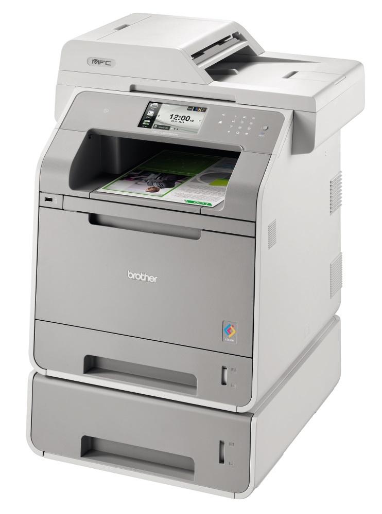 BArvni laserski tiskalnik Brother MFC-L9550CDWT z dupleksom, Wi-Fi in dodatnim pladnjem
