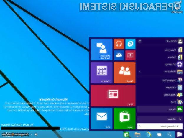 Operacijski sistem Windows 9 bo vsem imetnikom licenčnih Oken na voljo po izjemno dostopni ceni.