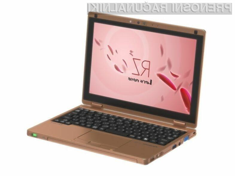 Hibridni prenosni računalnik Panasonic Note RZ4 se bo zlahka prikupil zahtevnejšim, ki pri delu na terenu potrebujejo tako prenosnik kot tablico.