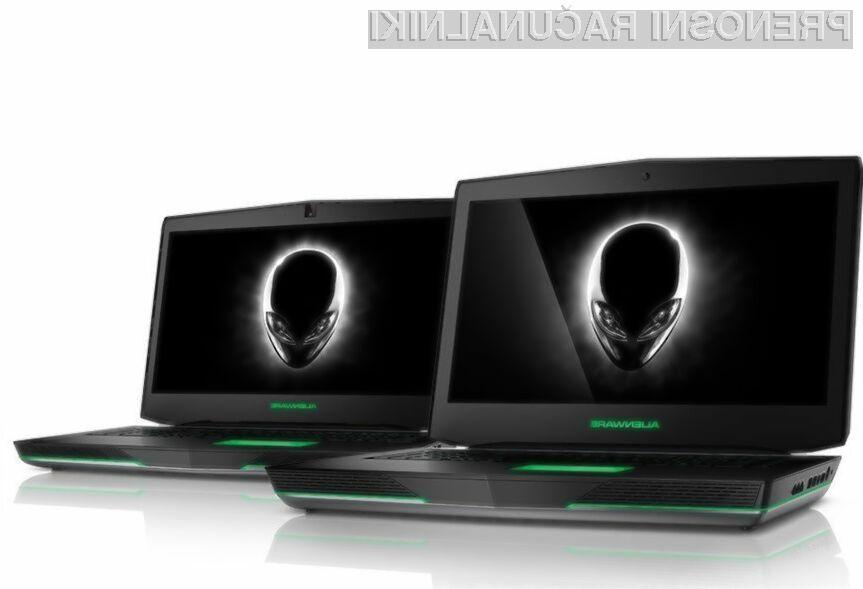 Novima prenosnikom Dell Alienware vsaj zlahka ne bo zmanjkalo moči!