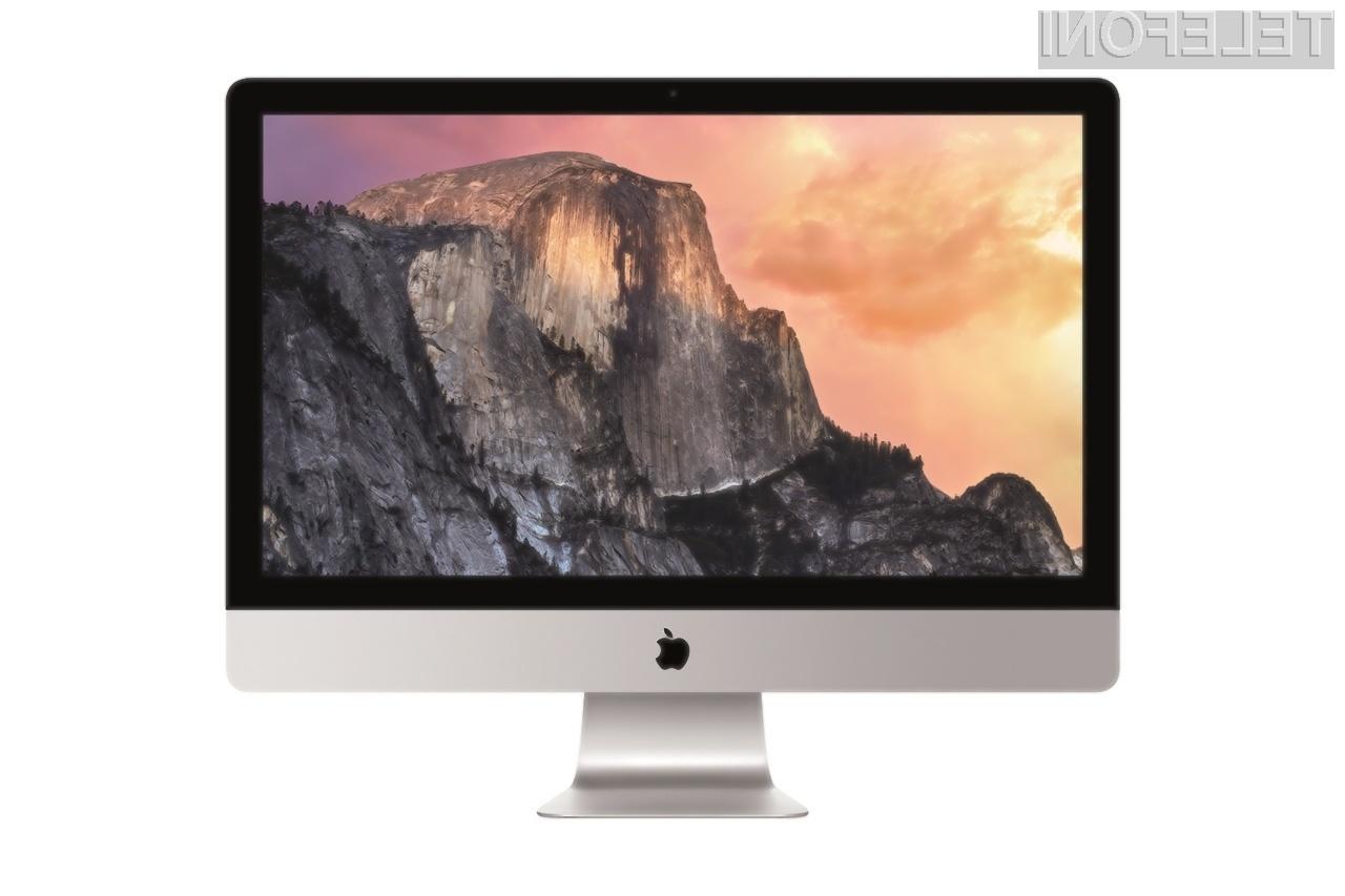 Osebni računalniki Apple ne bodo dočakali na dotik občutljivih zaslonov