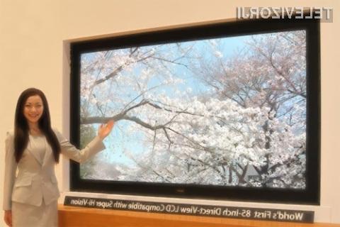 Pri podjetju Sharp so prepričani, da bi lahko televizor 8K ponudili v prodajo že prihodnje leto.
