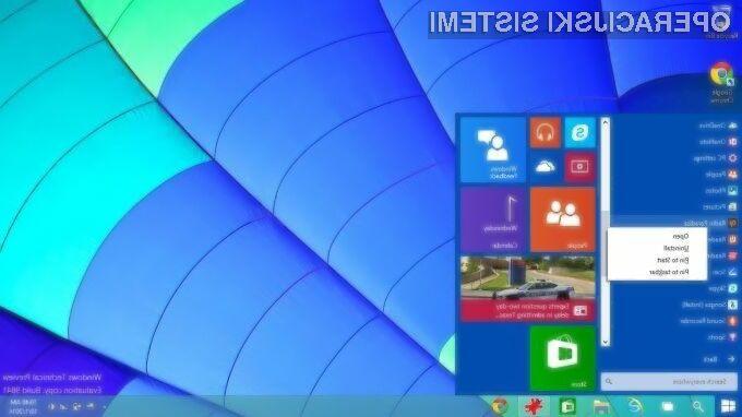 Zgodnjo poskusno različico operacijskega sistema Windows 10 Technical Preview so uporabniki relativno dobro sprejeli!
