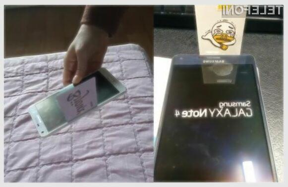 Največjo težavo kupcem novega mobilnika Samsung Galaxy Note 4 naj bi povzročal zaslon, ki ni povsem poravnan s kovinskim ohišjem.