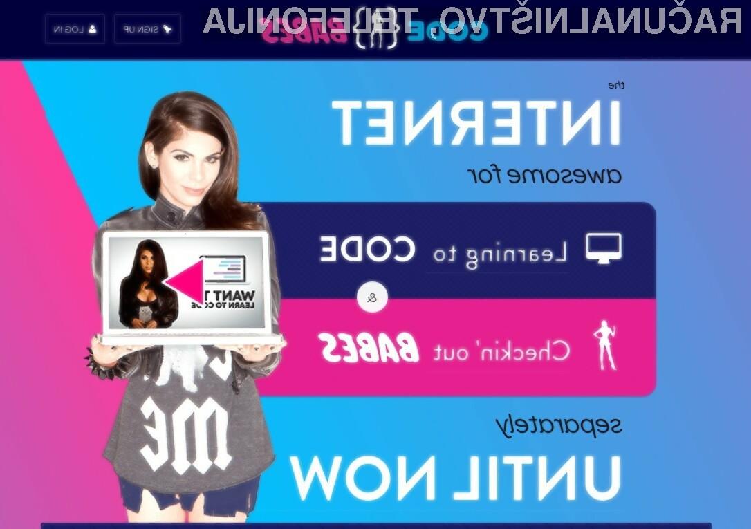 Učenje programiranja ob pomanjkljivo oblečenih dekletih naj bi bilo zabavno in prijetno.