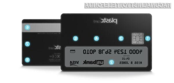 Pametna kartica Plastc lahko brez težav prevzame vlogo vseh plastičnih kartic, ki jih nosimo s seboj.