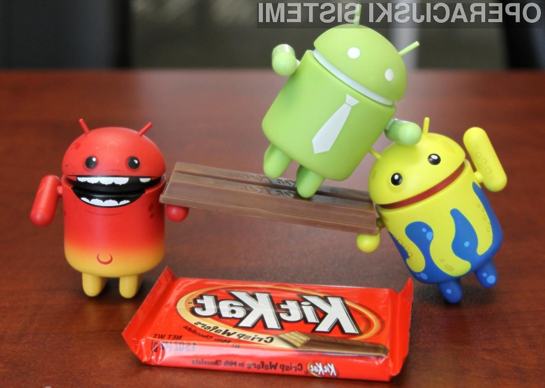 Android KitKat z velikimi mukami prilezel do 30 odstotkov