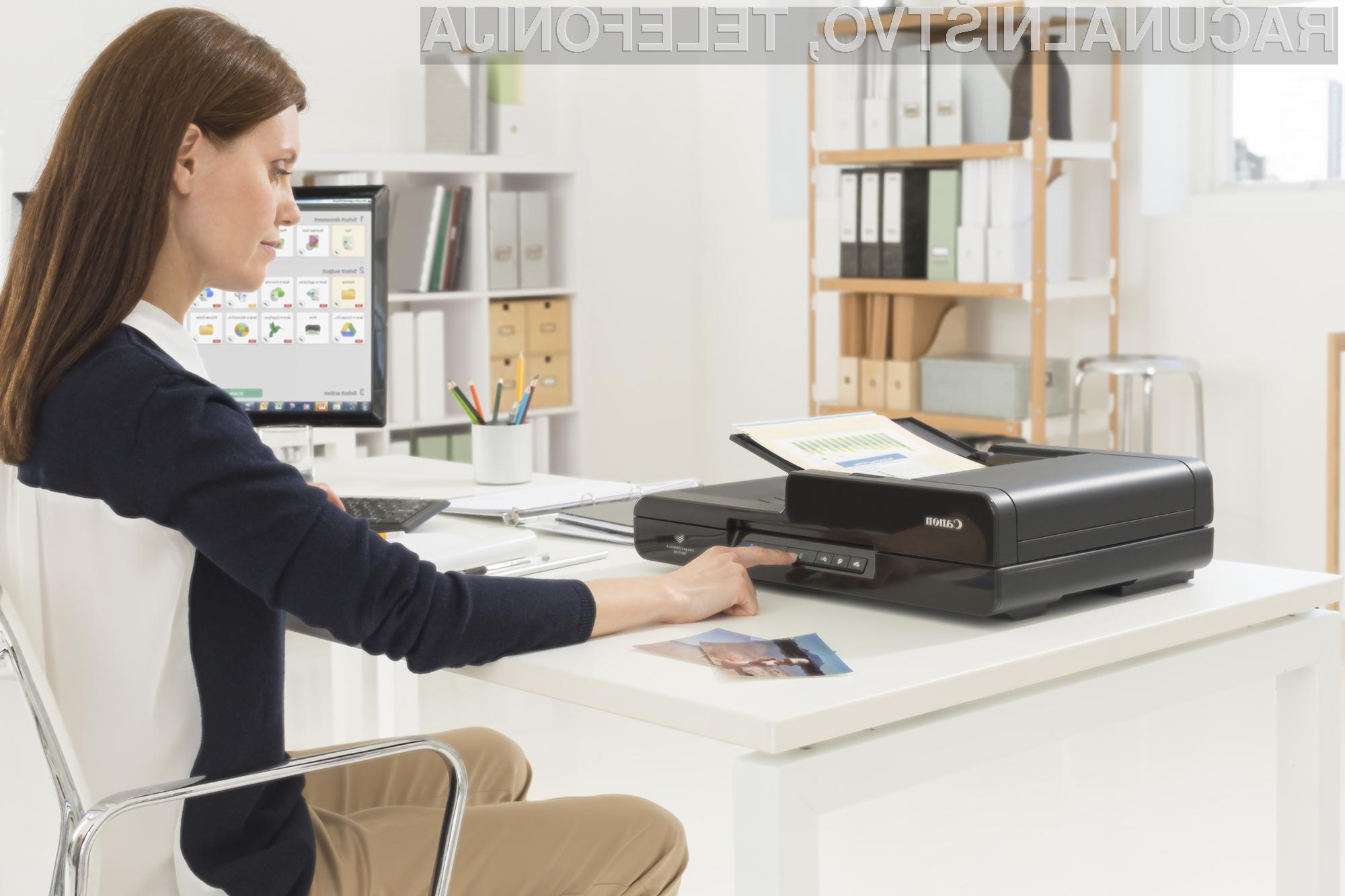 Canonove kompaktne naprave za tiskanje in skeniranje omogočajo povezovanje z brezžičnim omrežjem.
