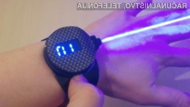 Ročna ura z laserskim žarkom vas bo zagotovo takoj prevzela!
