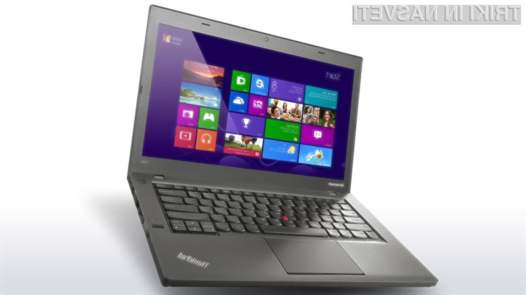 Poslovni prenosnik Lenovo ThinkPad T440s se ponaša s kar 14-urno in 32-minutno avtonomijo delovanja.
