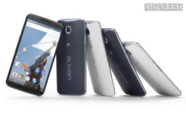 Prvi kupci bodo mobilnik Google Nexus 6 prejeli konec novembra oziroma v prvi polovici decembra.