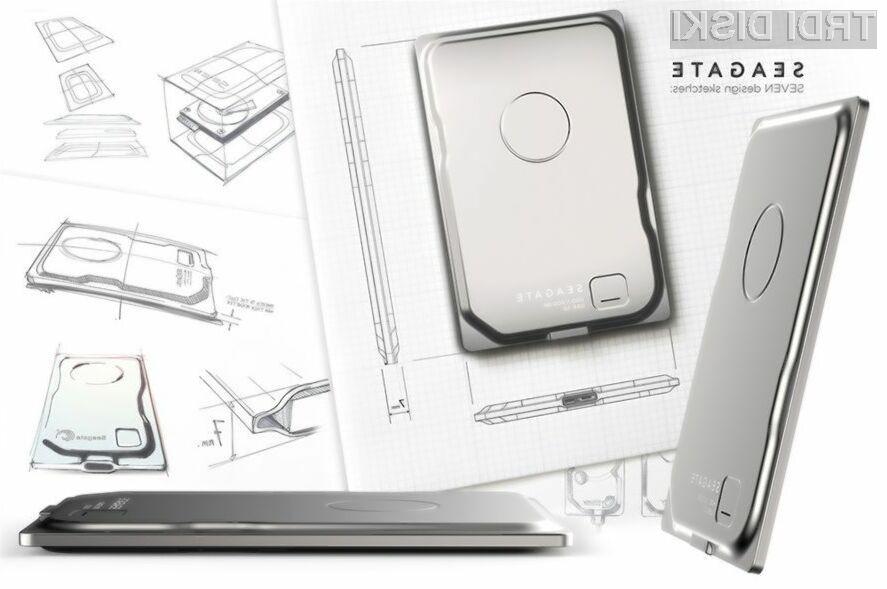 Zunanji trdi disk Seagate Seven bo zlahka zlezel tudi v najtanjši žep.
