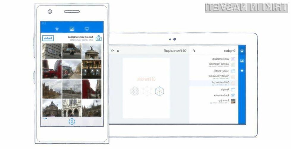 Dropbox je odslej polno združljiv z vsemi napravami, ki poganjajo mobilni operacijski sistem Windows Phone 8 ali novejši.