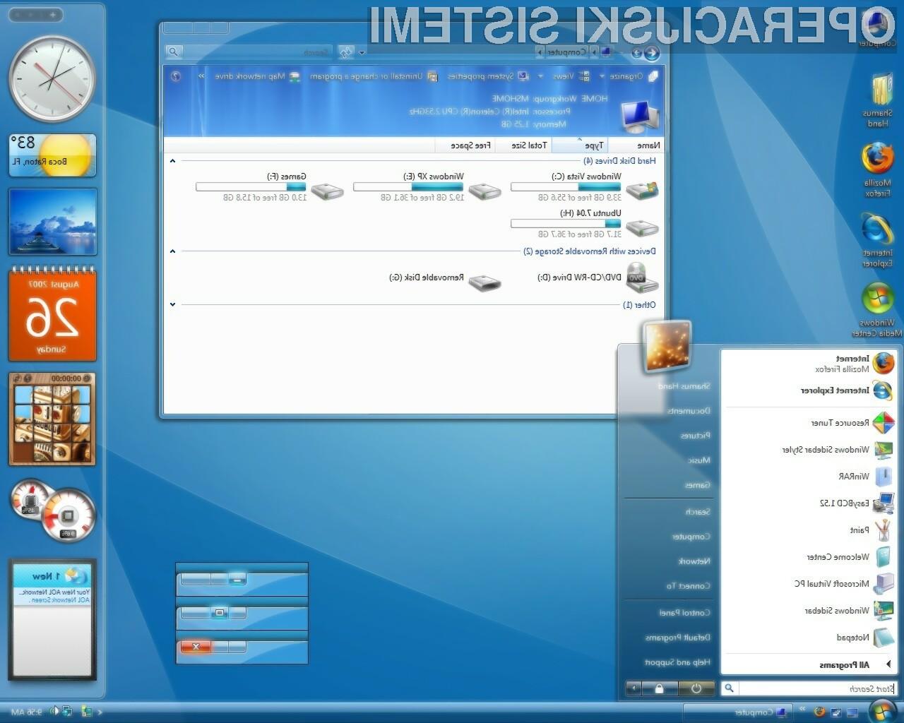 Uporabniki operacijskega sistema Windows Vista so z delovanjem sistema v pretežni meri nadvse zadovoljni!