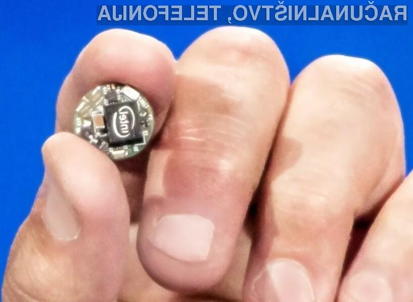 Miniaturni računalnik Intel Curie je pisan na kožo izdelovalcem nosljive elektronike!