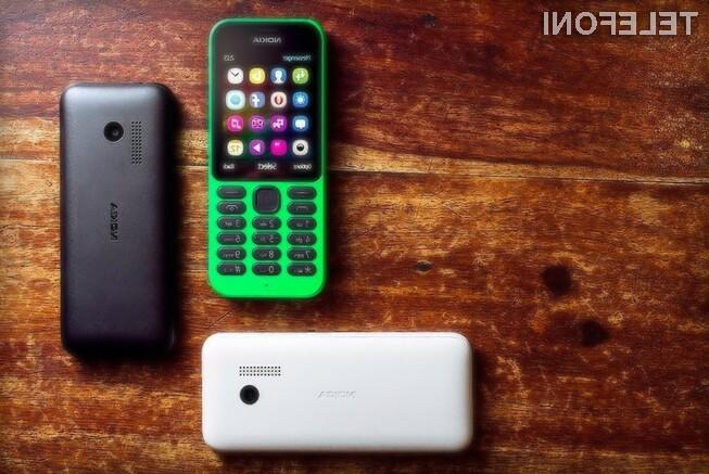 Nokia 215 podjetja Microsoft je trenutno najcenejši internetni mobilnik na modrem planetu!