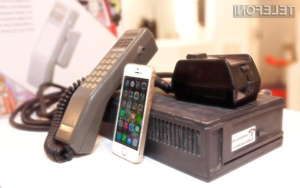 Prvi mobilni telefon Transportable Vodafone VT1 je tehtal kar pet kilogramov.