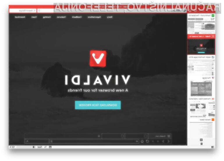 Spletni brskalnik Vivaldi ima vse možnosti za uspeh!