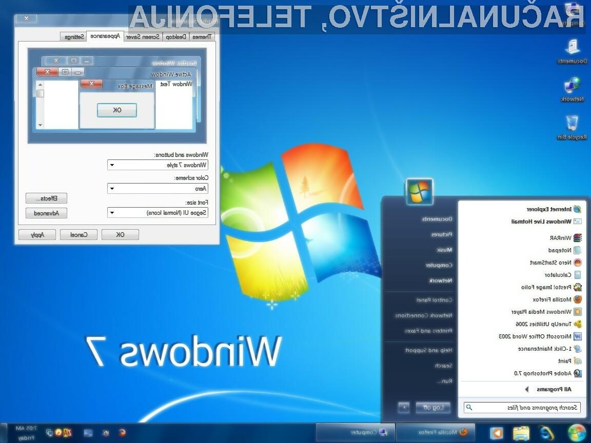 Uporabnikom Windowsa 7 programski popravki brezplačno niso več na voljo!