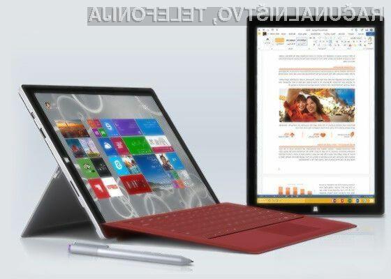 Tablični računalniki Surface z Windowsi 8.1 gredo v prodajo kot za stavo!