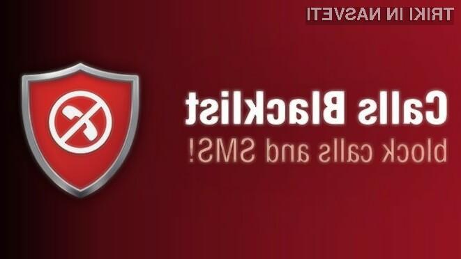 Uporabniki starejših naprav Android morajo za blokiranje klicev namestiti ustrezen program.