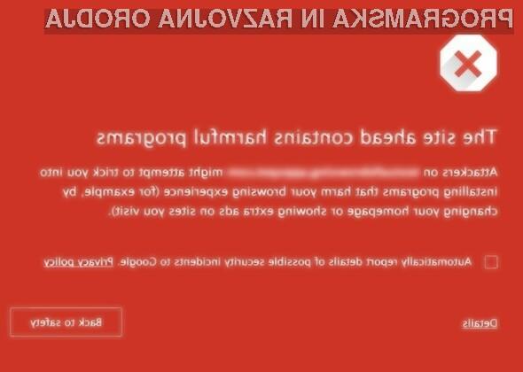 Novo opozorilo spletnega brskalnika Google Chrome bo nemogoče spregledati!