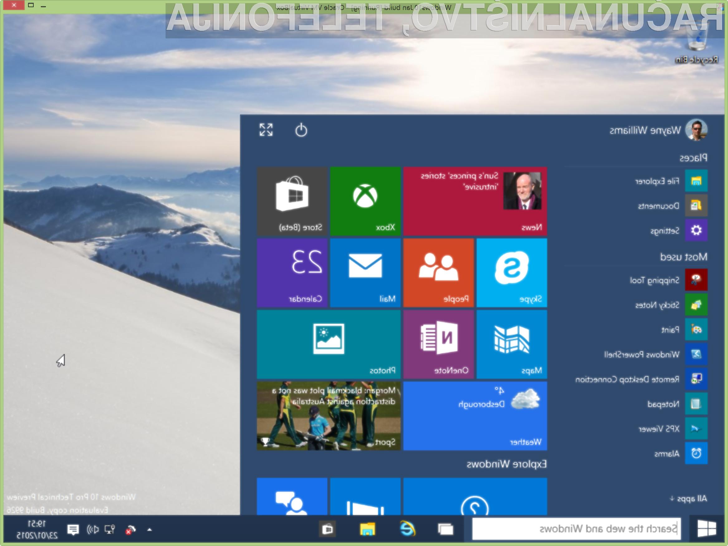 Običajni uporabniki bodo pri Windowsu 10 prišli na svoj račun šele v drugi polovici leta.