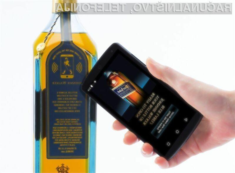 Pametna nalepka bo kupcem alkoholne pijače Johnnie Walker Blue Label posredovala raznovrstne informacije!