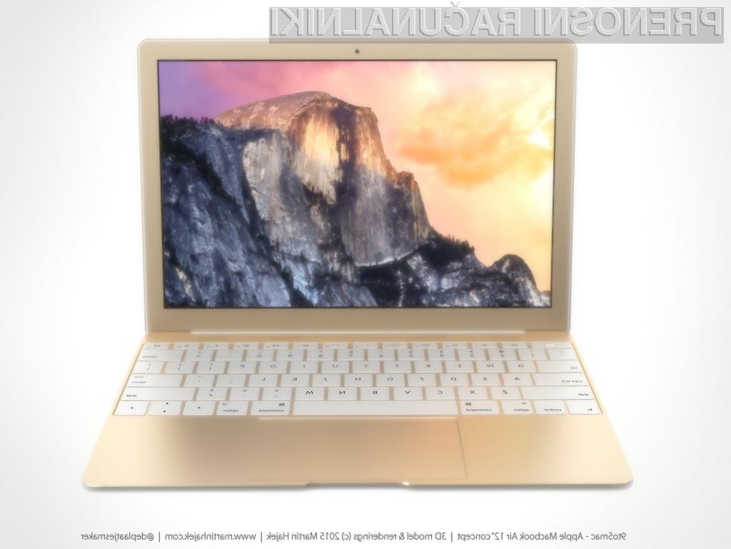 Zlato obarvan novi MacBook vas bo zlahka prevzel!