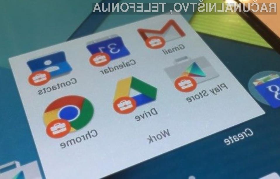Poslovni Android naj bi precej olajšal uporabo zasebnega in poslovnega profila na mobilni napravi.