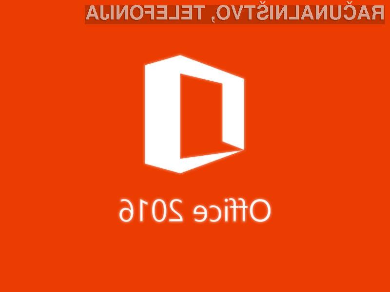 Novi pisarniški paket Office 2016 navdušuje v vseh pogledih.