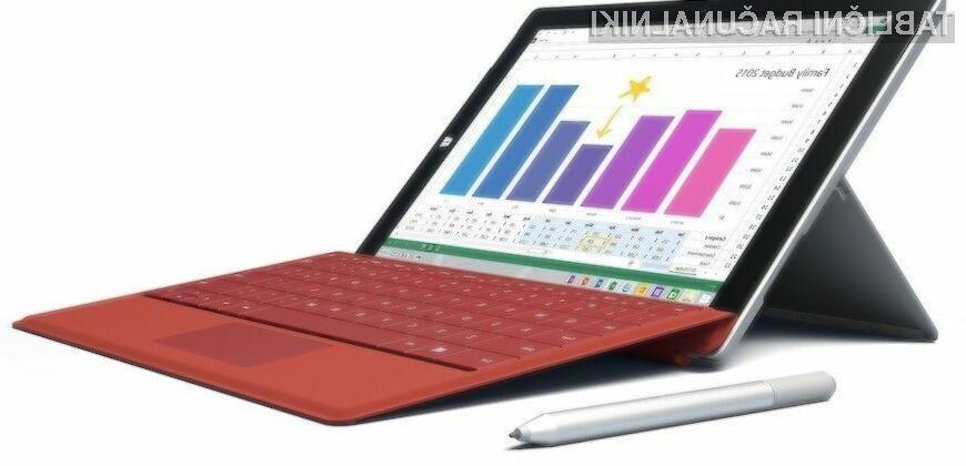Povezavo 4G/LTE bodo uporabniki tablice Surface 3 lahko uporabljali brez posebnih omejitev!
