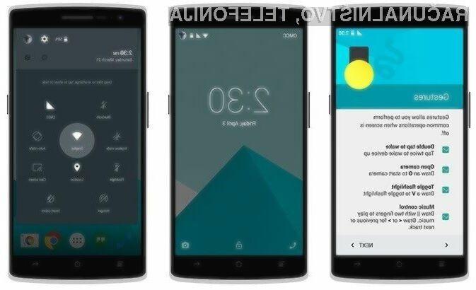 Uporabniški vmesnik operacijskega sistema OxygenOS je na las podoben Androidu 5.0, a je občutno hitrejši.