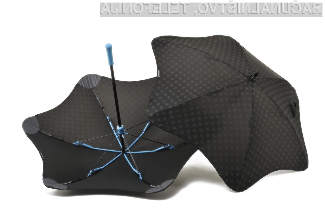 Napredni dežnik podjetja Blunt je mogoče povezati neposredno s pametnim mobilnim telefonom!