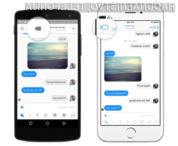 Novi Facebook Messenger se lahko odslej brez težav postavi po robu priljubljenim aplikacijam, kot so Skype, Google Hangouts in Applov FaceTime.