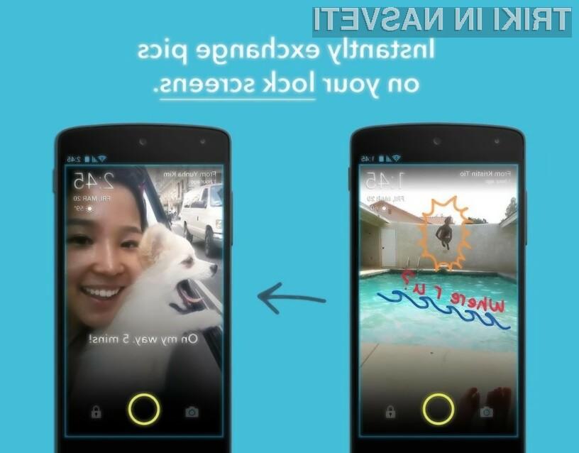 Aplikacija Screenpop bo poskrbela za prikaz sporočil ob zaklenjenem zaslonu.