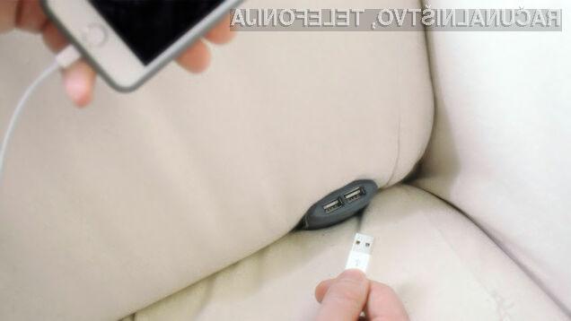 Z napravo Couchlet bomo mobilno napravo lahko polnili kjerkoli po stanovanju!