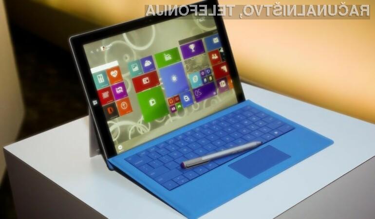 Vsestransko uporabna tablica Microsoft Surface 3 lahko brez težav prevzame vlogo kompaktnega osebnega računalnika.