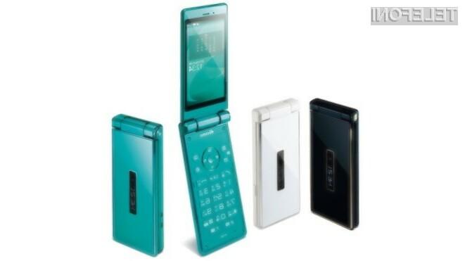 Za podjetje Sharp so preklopni mobilniki še vedno »in«.